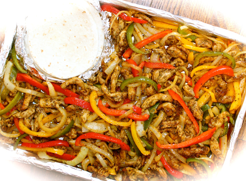 ~ Pantastic Sizzling One-Sheet-Pan Chicken Fajitas ~
