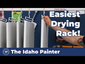 Painting Cabinets in 1 DAY! How to paint cabinets fast with this spray and drying rack from PaintLine