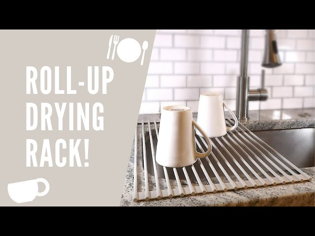 This multi-purpose roll-up dish rack is your go-to versatile kitchen tool