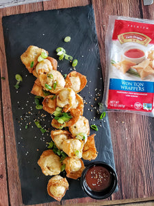 Everything Bagel Cream Cheese Wontons | Nik Snack