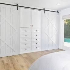 Modern Contemporary White Closet Doors