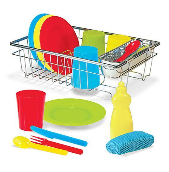 Melissa & Doug - Let's Play House! Wash & Dry Dish Set