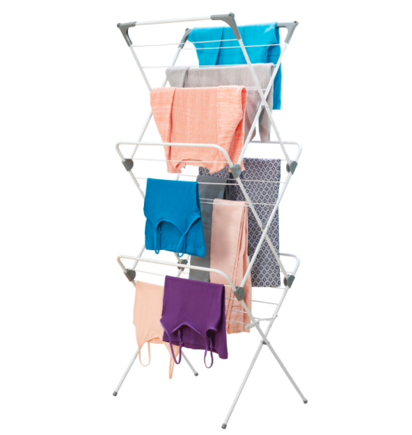 Brezio 3 Tier Laundry Drying Rack - White/Grey