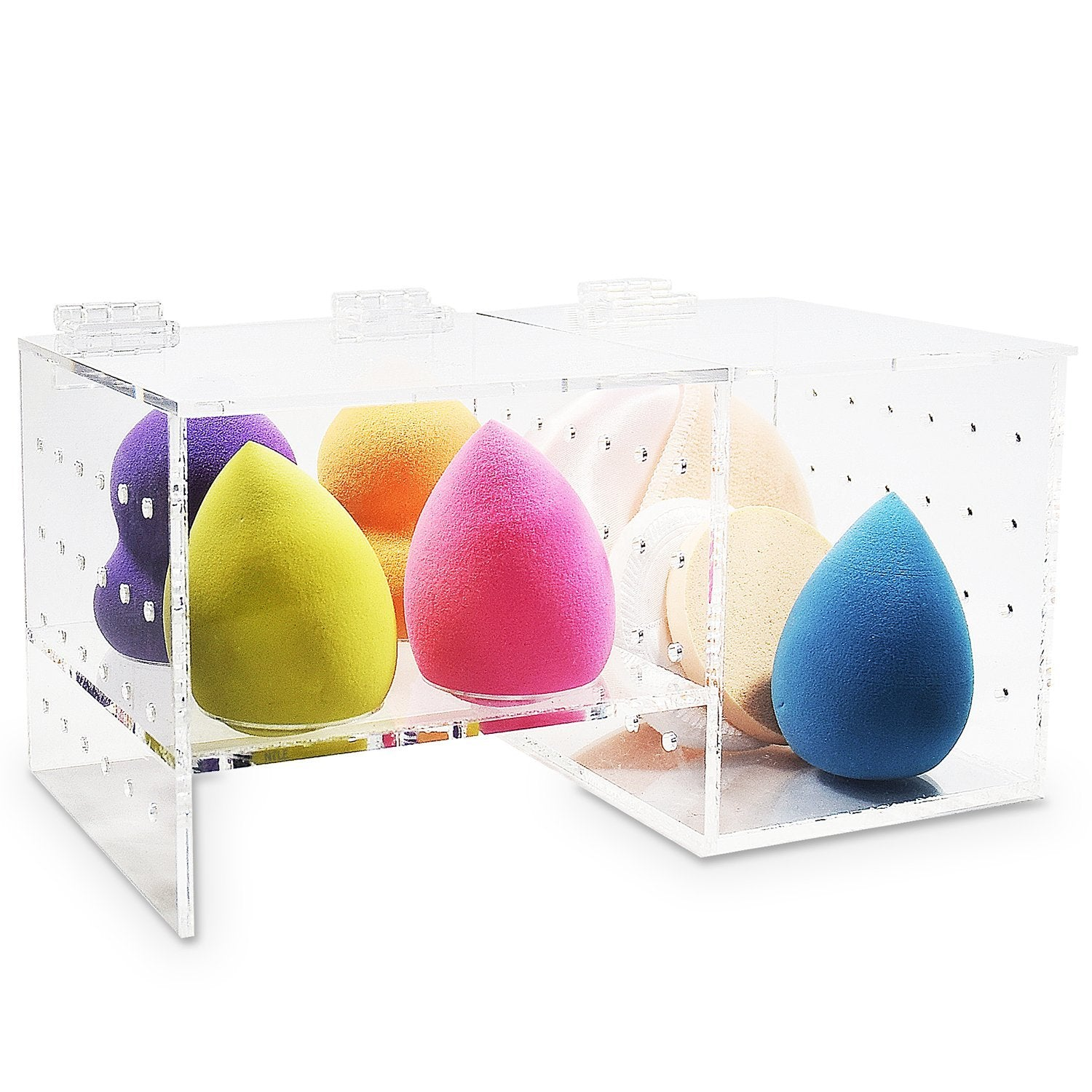 #COM6175 Acrylic Beauty Makeup Sponge Blender Holder