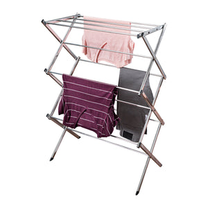 Commercial Accordion Drying Rack, Chrome