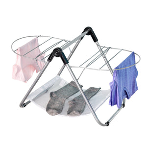 Collapsible Tabletop Clothes Drying Rack, Silver