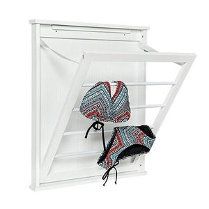 One-Shelf Drying Wall Rack, White