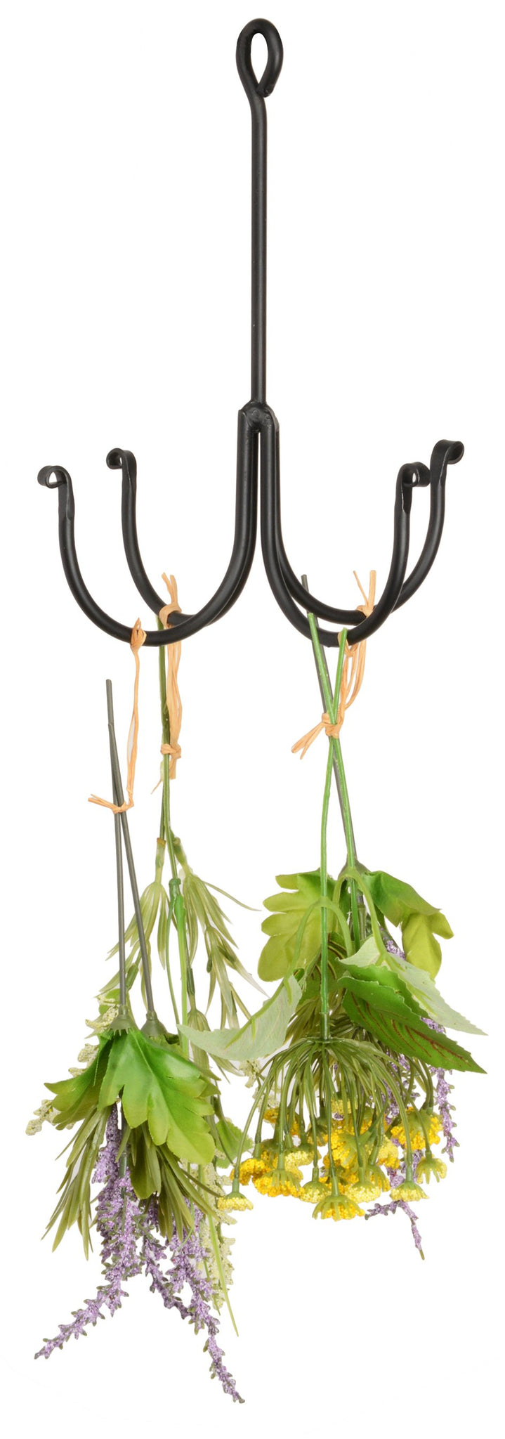 WROUGHT IRON HERB HOOK Primitive Hand Forged Drying Rack