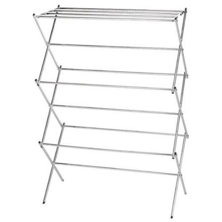 Folding Clothes Drying Rack in Chrome - Air Dry your Laundry