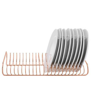 Rose Gold Metal Dish Drying Rack