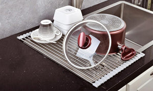 Over The Sink Roll-Up Dish Drying Rack