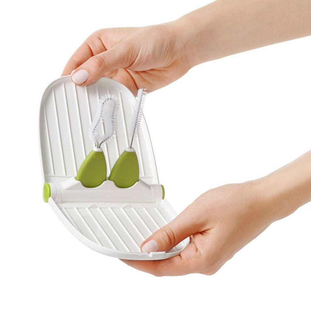 OXO Breast Pump Parts Drying Rack with Detail Brush