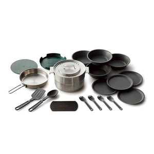 STANLEY | ADVENTURE Base Camp Cook 19pc - set for 4 people - Brushed Stainless Steel
