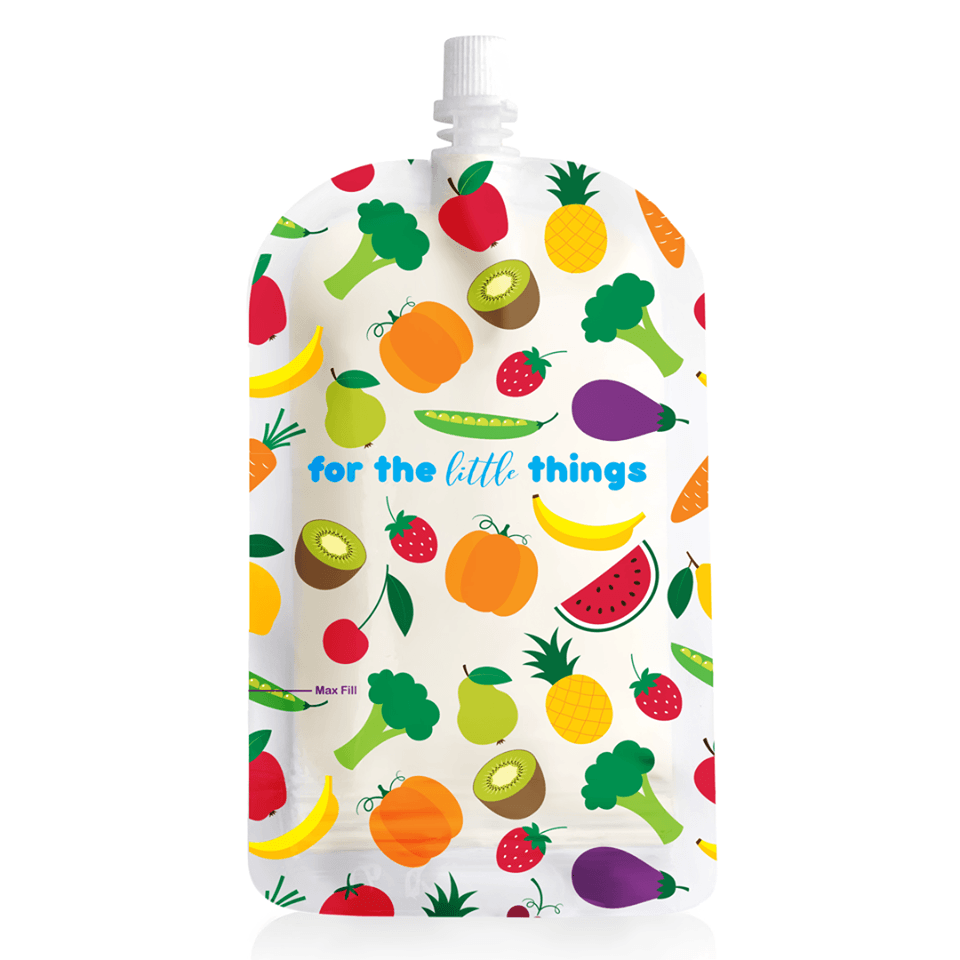 Sinchies Fruit & Veg 200ml Reusable Food Pouches 10pk