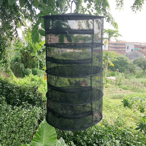 Herb Drying Folding Fishing Net with Zippers Dryer Mesh Tray Drying Rack Flowers Hanger Fish Net Tackle Garden Outdoor