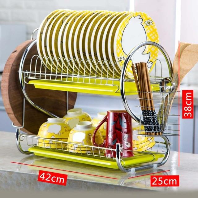 Dish Drainer Stainless Steel Drying Rack