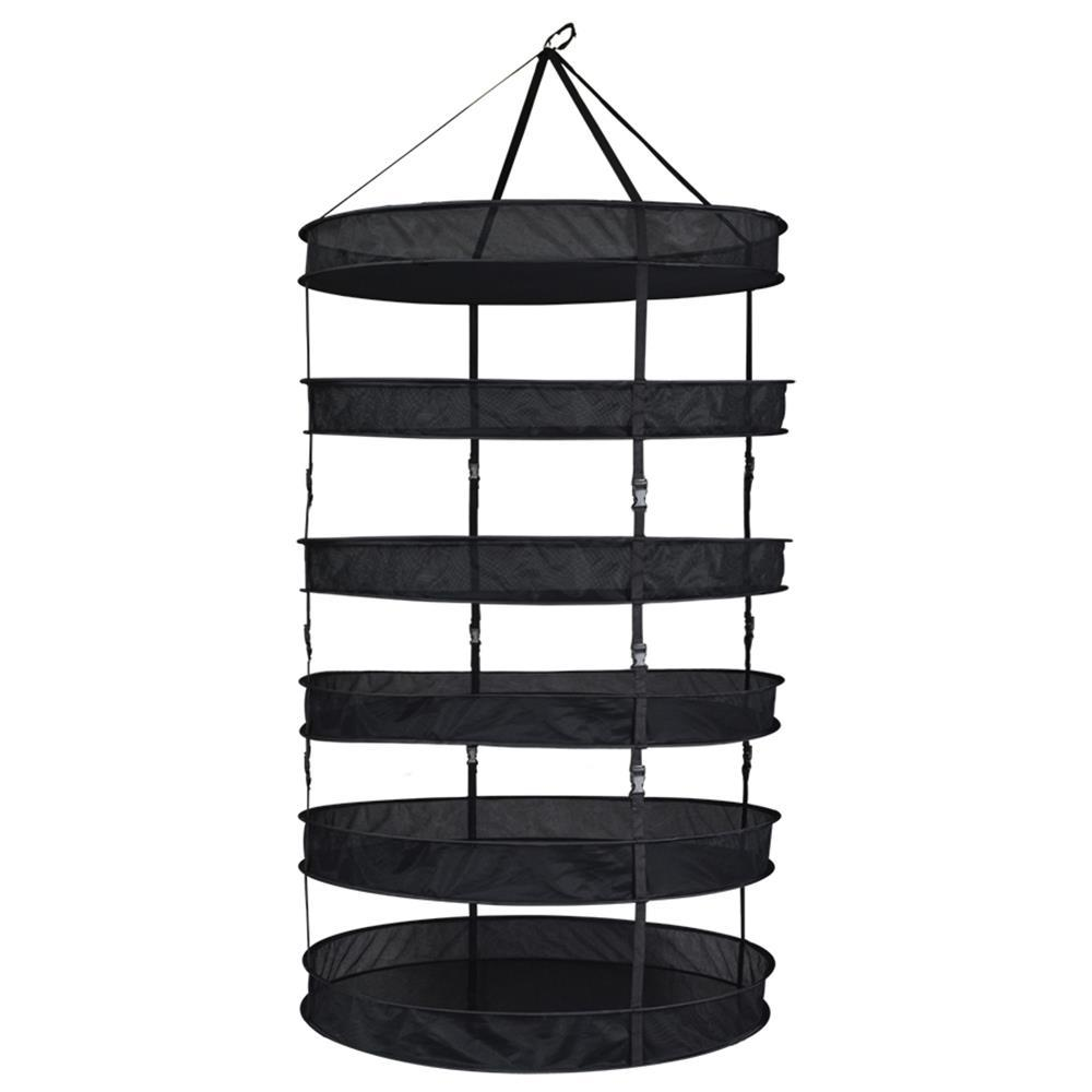 Grower's Edge Drying Rack Partially Enclosed W/ Clips (Sections) 6-Tier 3' Diameter