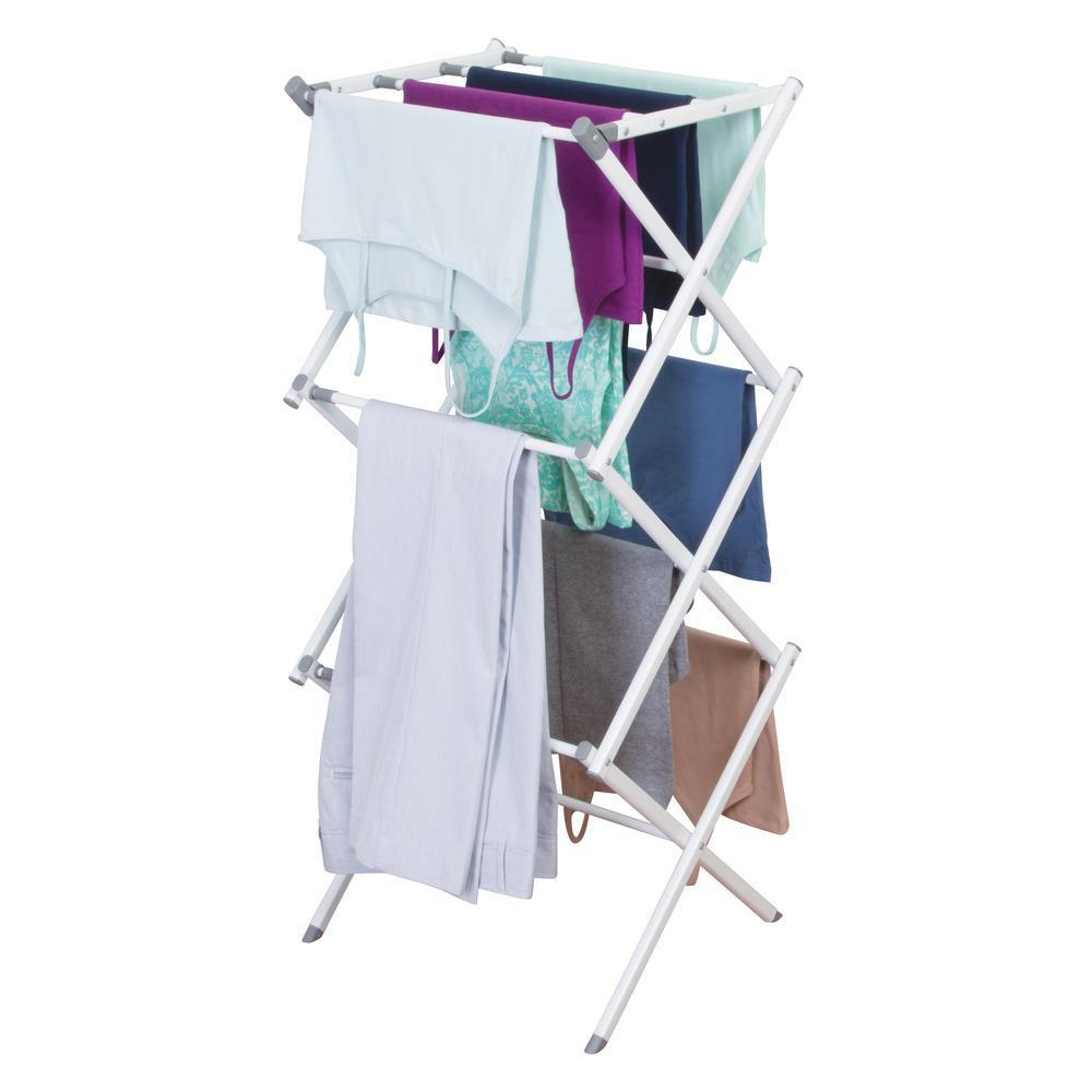 InterDesign Brezio 3 Tier Expandable Laundry Drying Rack