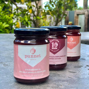 Punnet's Strawberry and Heilala vanilla bean jam