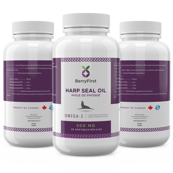 Harp seal oil softgels capsules