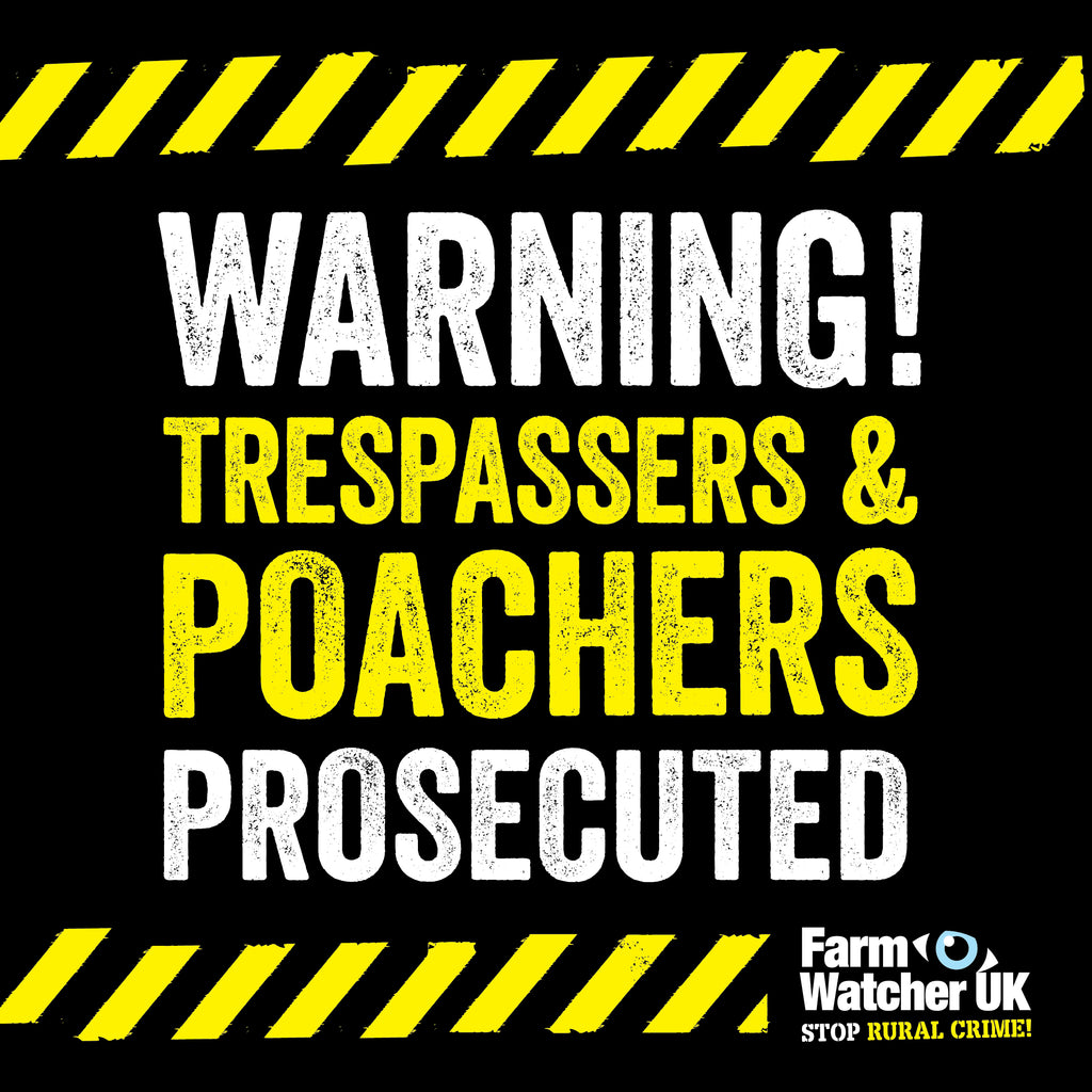 TRESPASSERS AND POACHERS WARNING SIGN