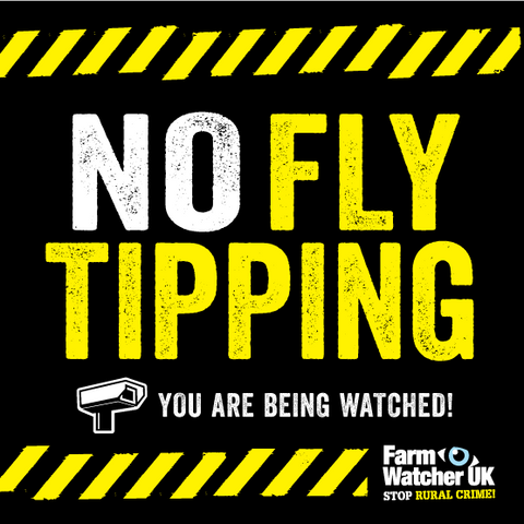 NO FLYTIPPING WARNING SIGN
