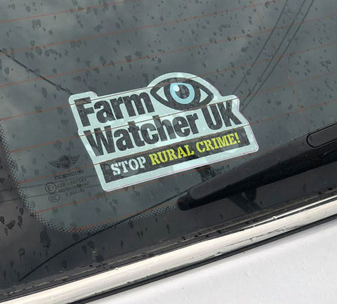 FARMWATCHERUK VEHICLE WINDOW STICKER