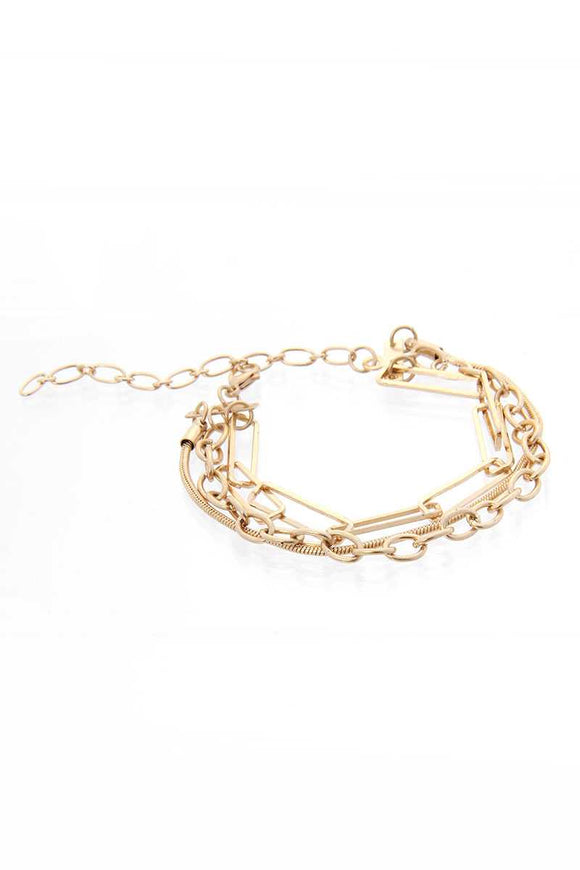 3 Line Multi Metal Bracelet - APPLES PEACHES PEARS