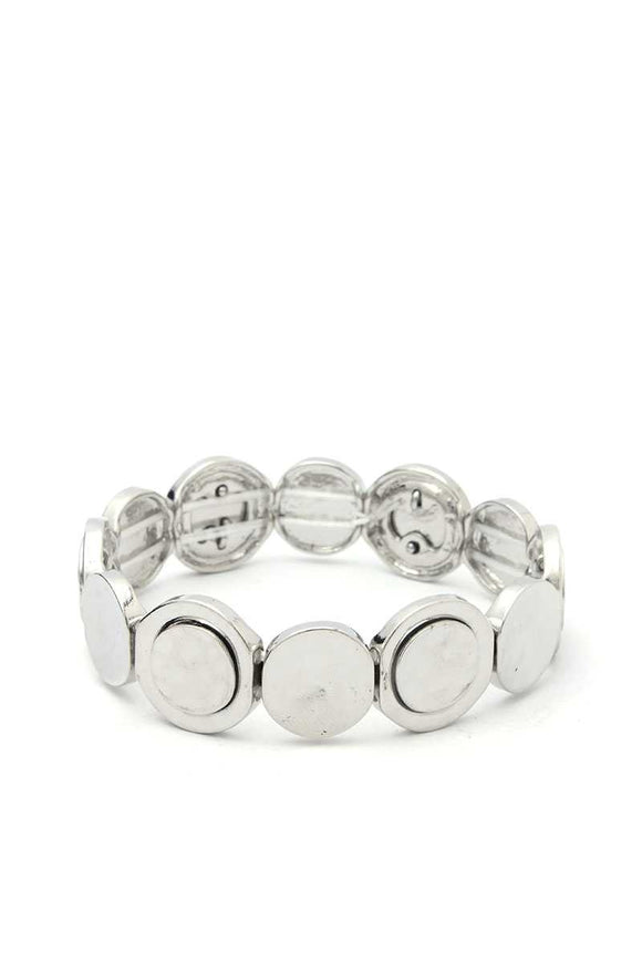 Circle Metal Stretch Bracelet - APPLES PEACHES PEARS