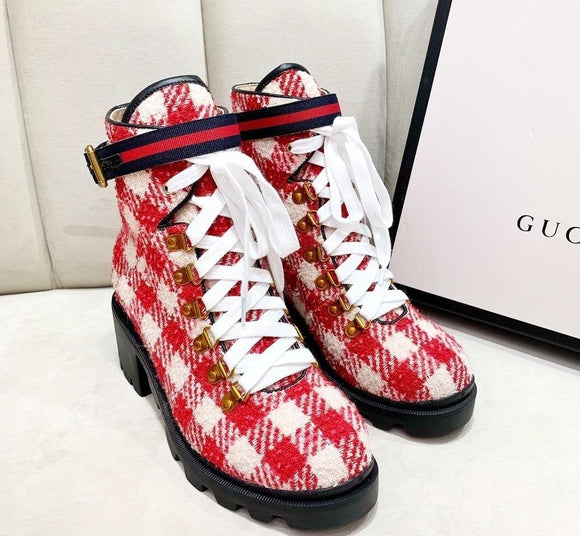 Gucci THIs? Gucci That?! LUXE Combat Boots - APPLES PEACHES PEARS