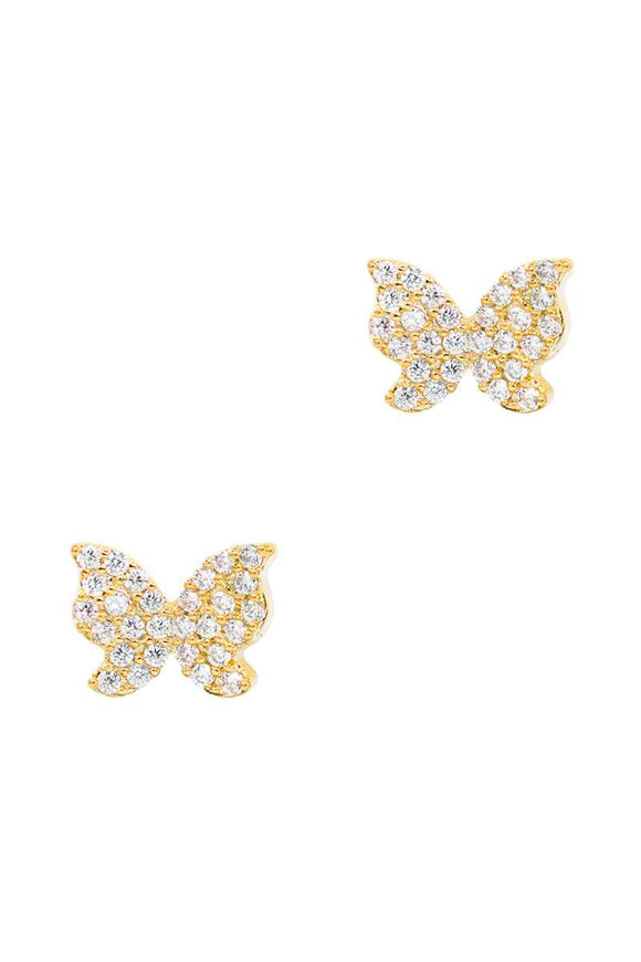Secret Box Cubic Butterfly Stud Earring - APPLES PEACHES PEARS