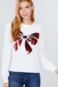 Sequins Embroidered Pullover - APPLES PEACHES PEARS