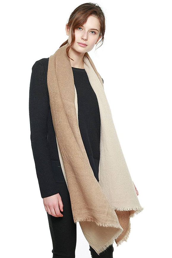 Two Tone Gradation Scarf - APPLES PEACHES PEARS