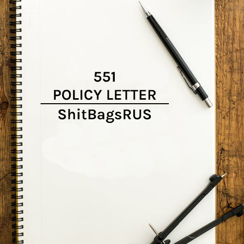 Hand Written D551 Policy Letter Bundle