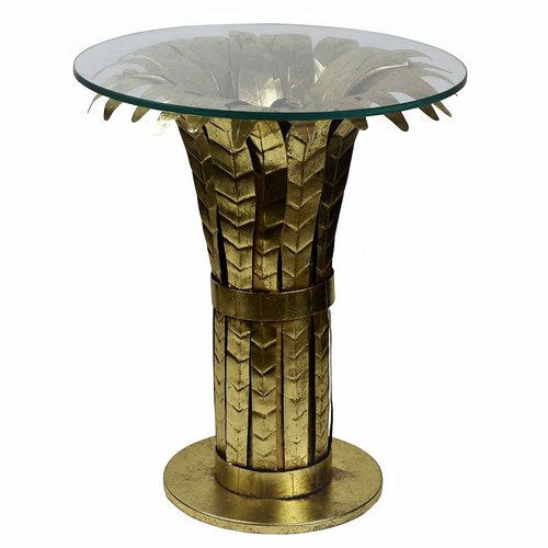 1920's Palm Hollywood Side Table