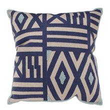 Patterned Taupe Blue & Green Cushion-Find It Style It Home