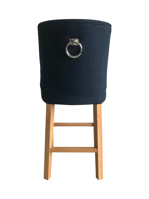 Cordelia Barstool French Navy