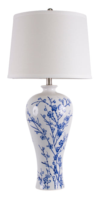 Provincial Table Lamp stunning eastern ceramic with shade