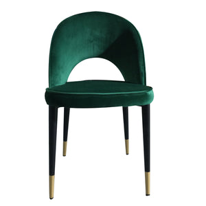 Beau Dining Chair - Emerald Green Velvet