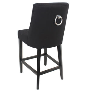 Ophelia Barstool Black chrome ring on back-Find It Style It Home