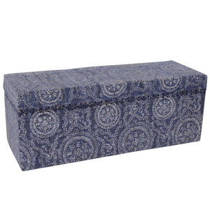 Faded Indigo Circle Trunk/Bed Chest