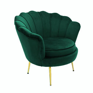 Shell 2 Seater Sofa  Green Velvet.