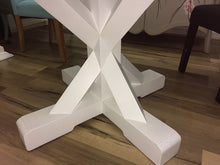 Country Cottage Trestle White Round Dining Table 1.2m