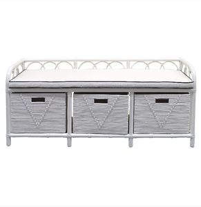 Georgia Rattan Storage Bench - Bed End