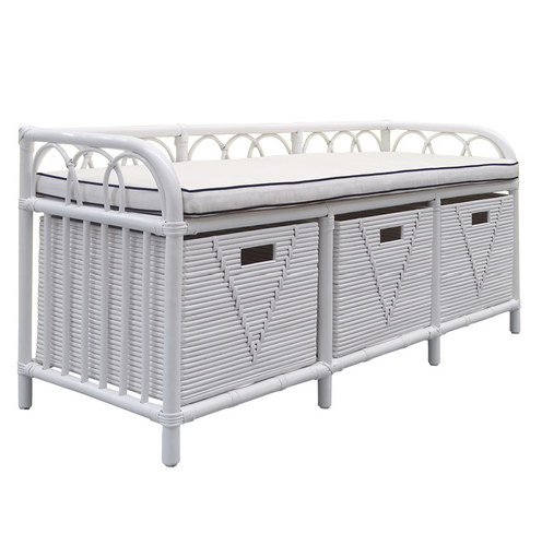 Carolina Rattan Storage Bench - Bed End