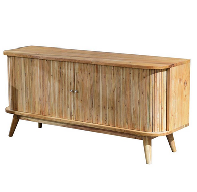 Slatted Hand Crafted Hardwood Sideboard