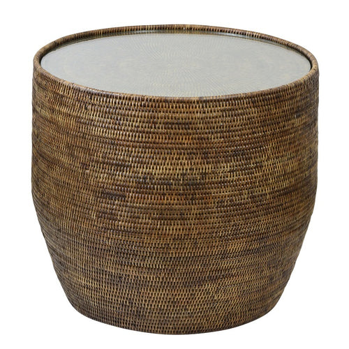 Plantation Side Table with Gla-Find It Style It Home