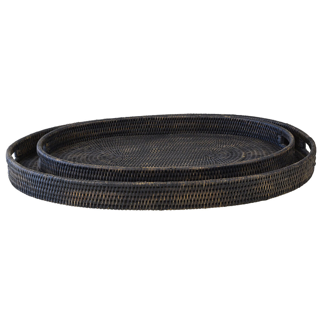 Bungalow Rattan Tray Oval