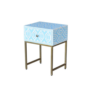 Anika Side Table Blue-Find It Style It Home