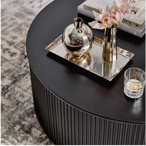 Chandra Round Coffee Table - Black-Find It Style It Home